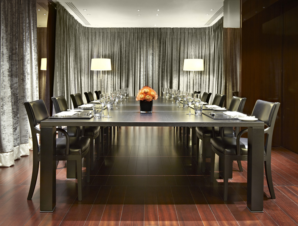 Bulgari hotel residences london hospitality interiors for O bar private dining room
