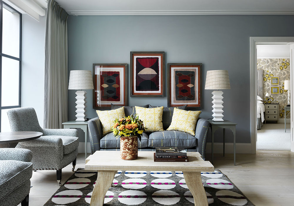 Ham yard hotel london hospitality interiors magazine for Small living room colour ideas