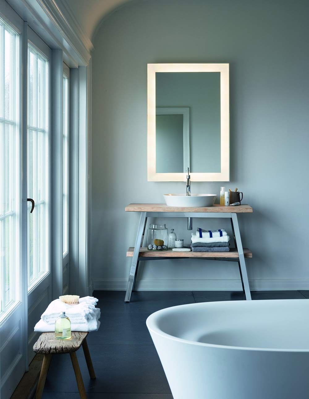 Luxury Duravit Starck 835mm Wall Mounted 1 Compartment Vanity Unit