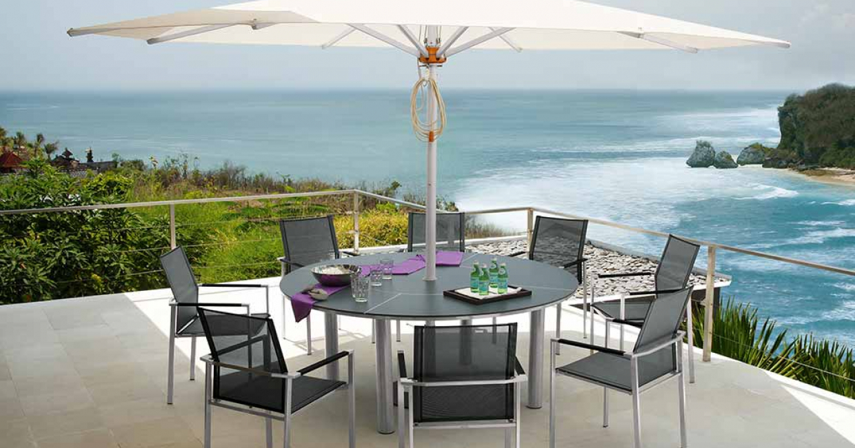 Equinox Circular Table with HPL table top