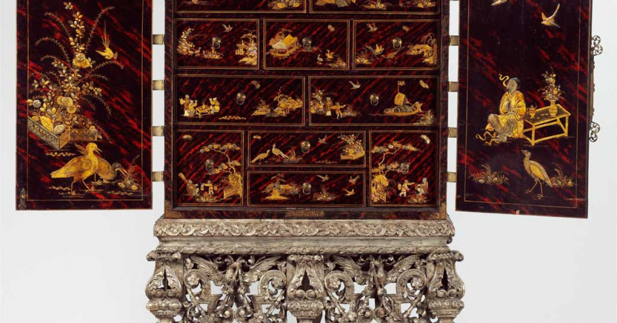 Cabinet on a stand, c1690-1700. Image © V&A Images