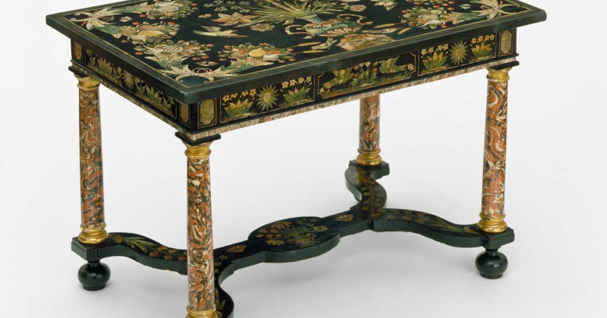 Table, originally from Warwick Castle, c1670-80. Image © V&A Images
