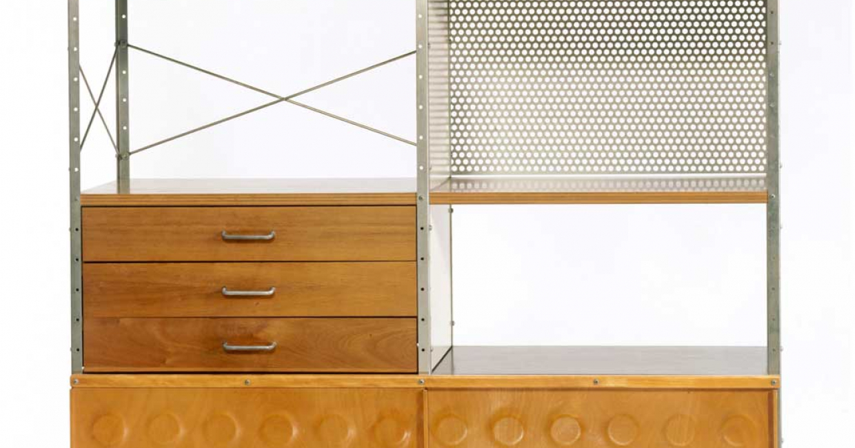 Storage Unit, designed by Ray and Charles Eames, c1949-50. Image © V&A Images
