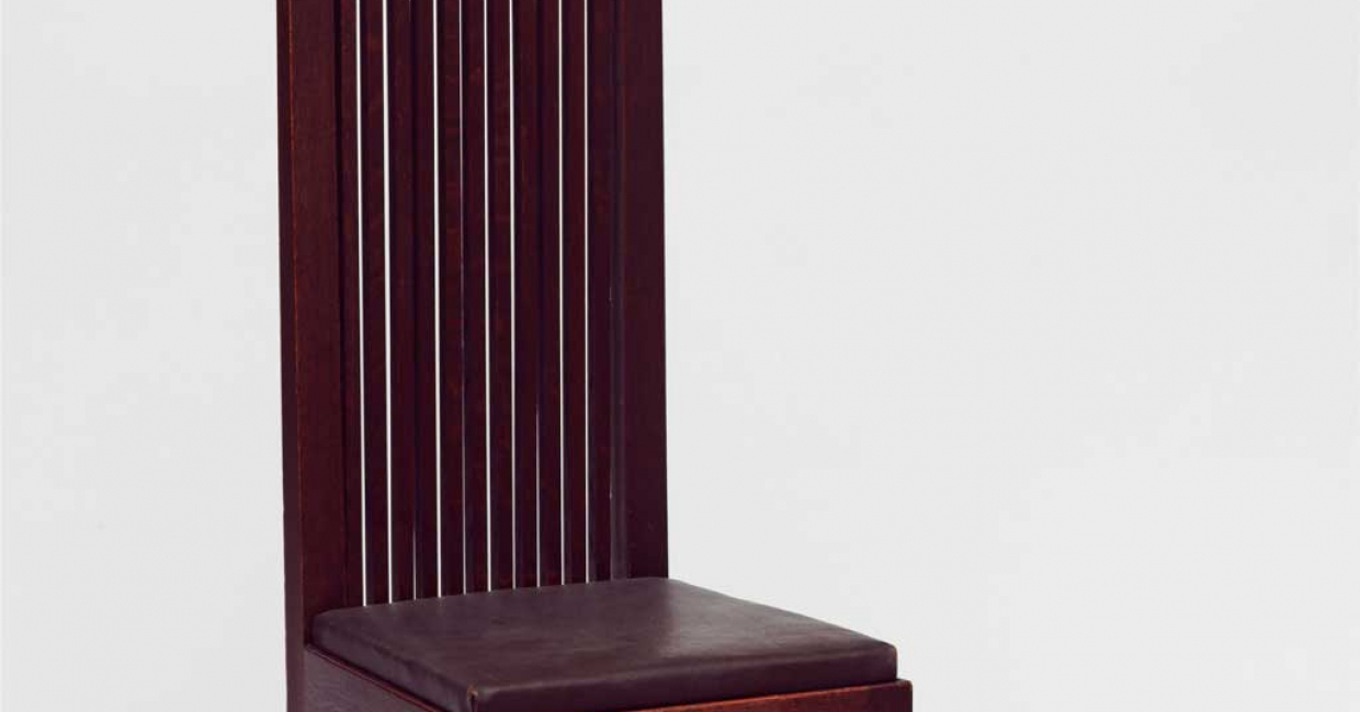 Chair for the Ward Willets House, designed by Frank Lloyd Wright. Image © ARS, NY and DACS