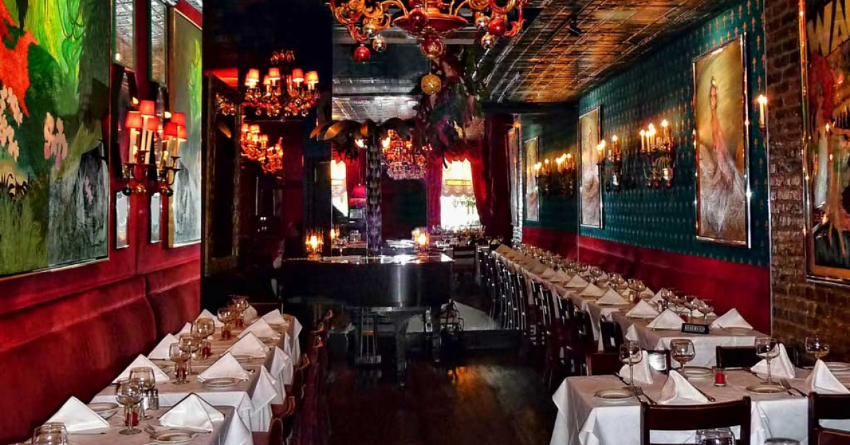 Dining room at Chez Josephine, New York