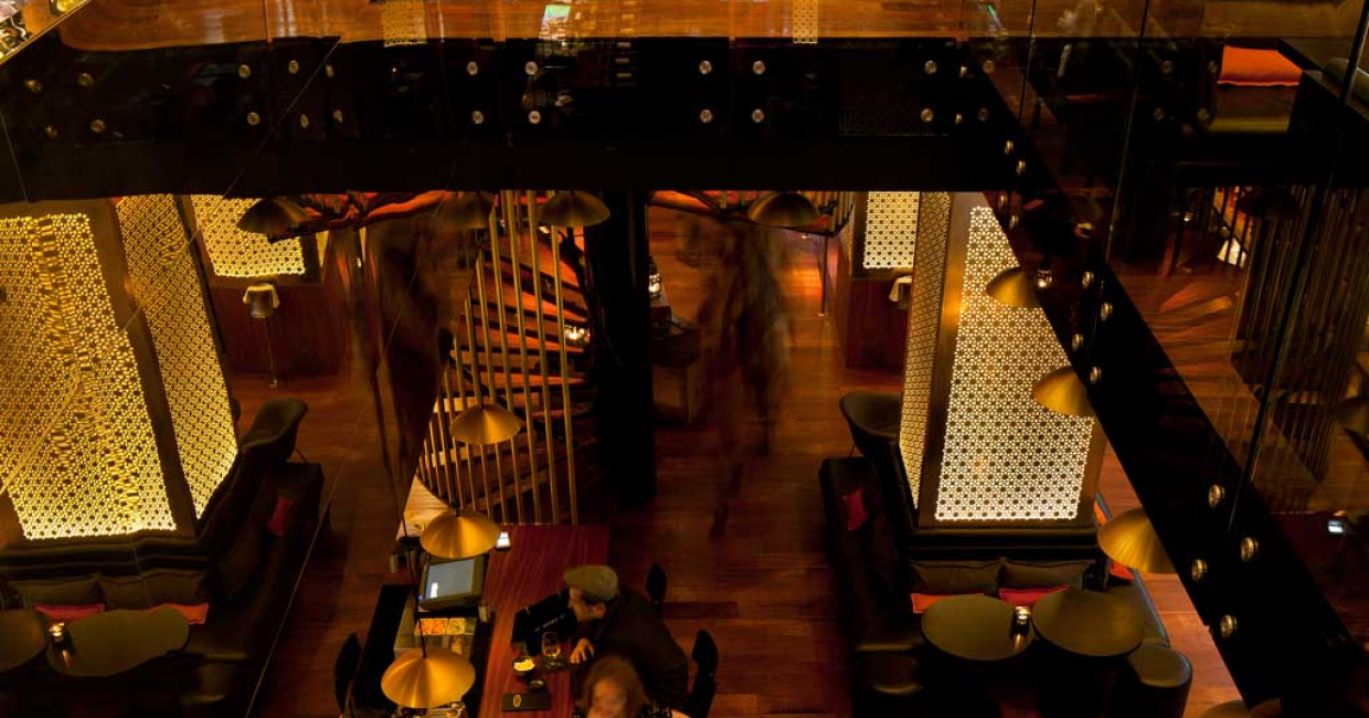 Spice Market restaurant at W London, Leicester Square. Image © Ewout Huibers for Concrete