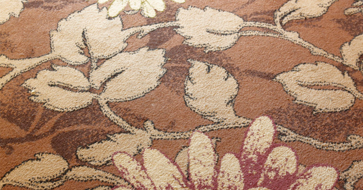 Wilton Carpet Commercial's botanical carpet at The Three Bears, Stockport