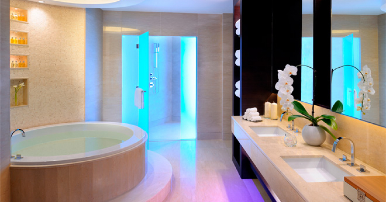 Bagno design at jw marriott marquis dubai hospitality for Bathroom interior design dubai