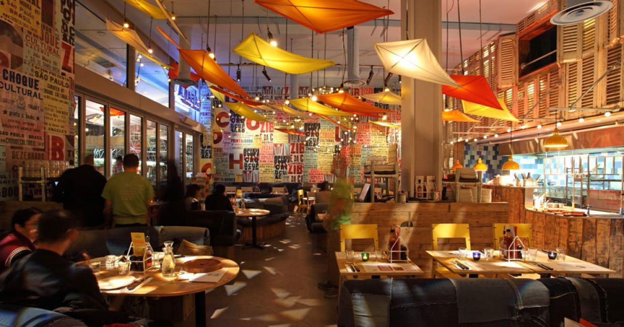 Restaurant or bar in a retail space – Cabana (Westfield, London), Michaelis Boyd Associates
