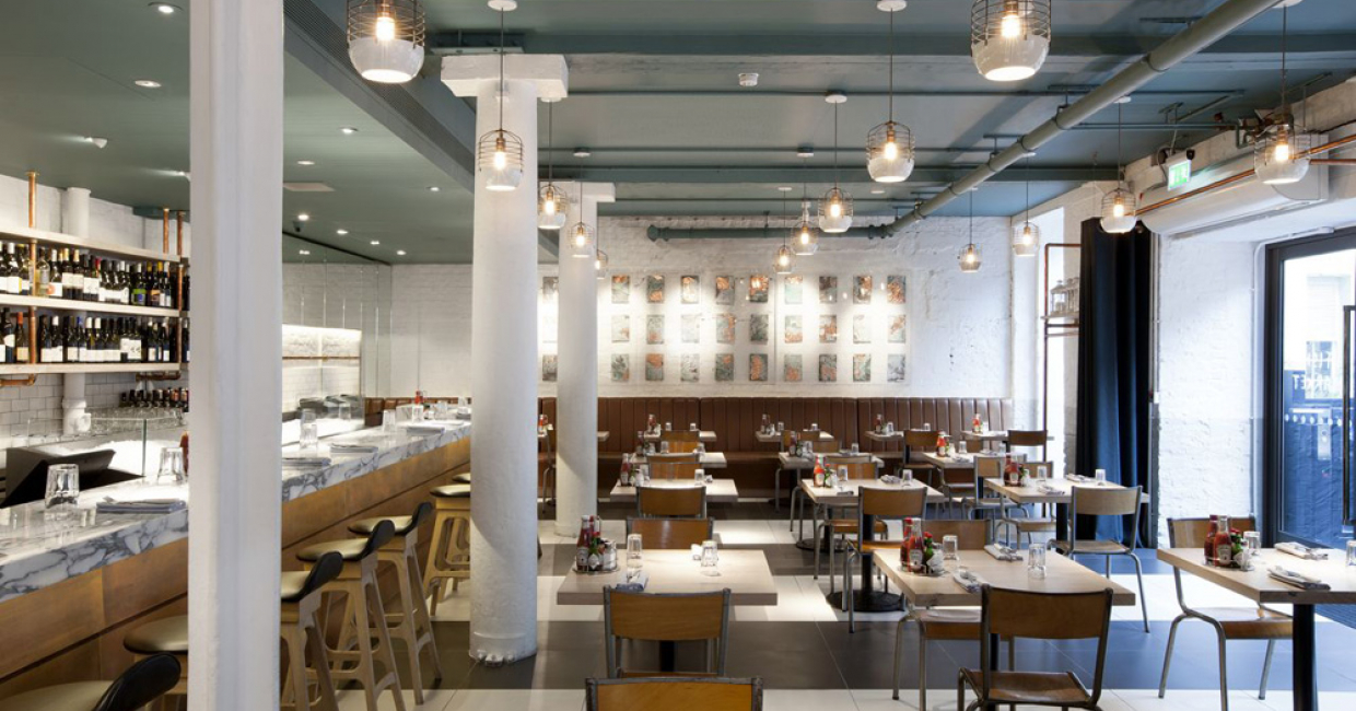 Restaurant or bar in a heritage building – Fish Market, Conran & Partners