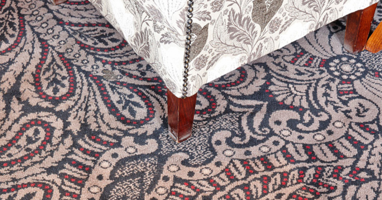 Wilton Carpets Commercial paisley-style carpet at The Old Ball in Horsforth, Leeds