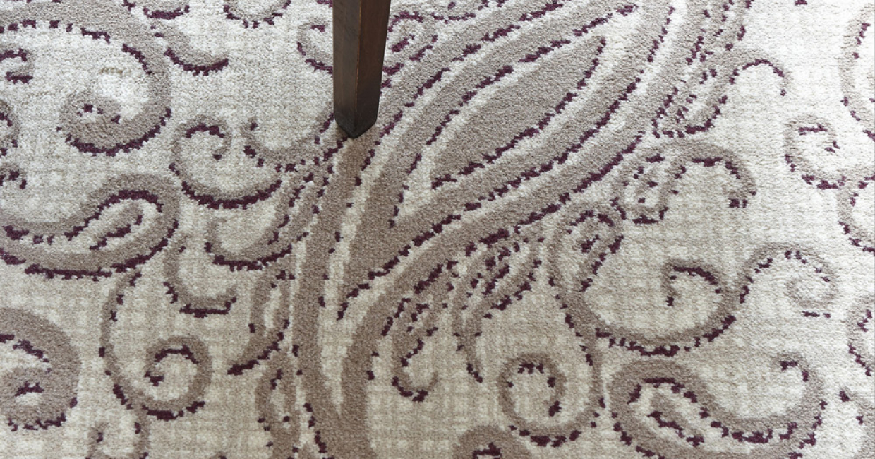 Wilton Carpets Commercial paisley-style carpet at The George Hotel in Penrith, Cumbria
