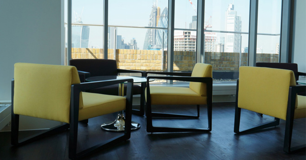 Inside Out Contracts has supplied stylish furniture for Live1 in Aldgate, London