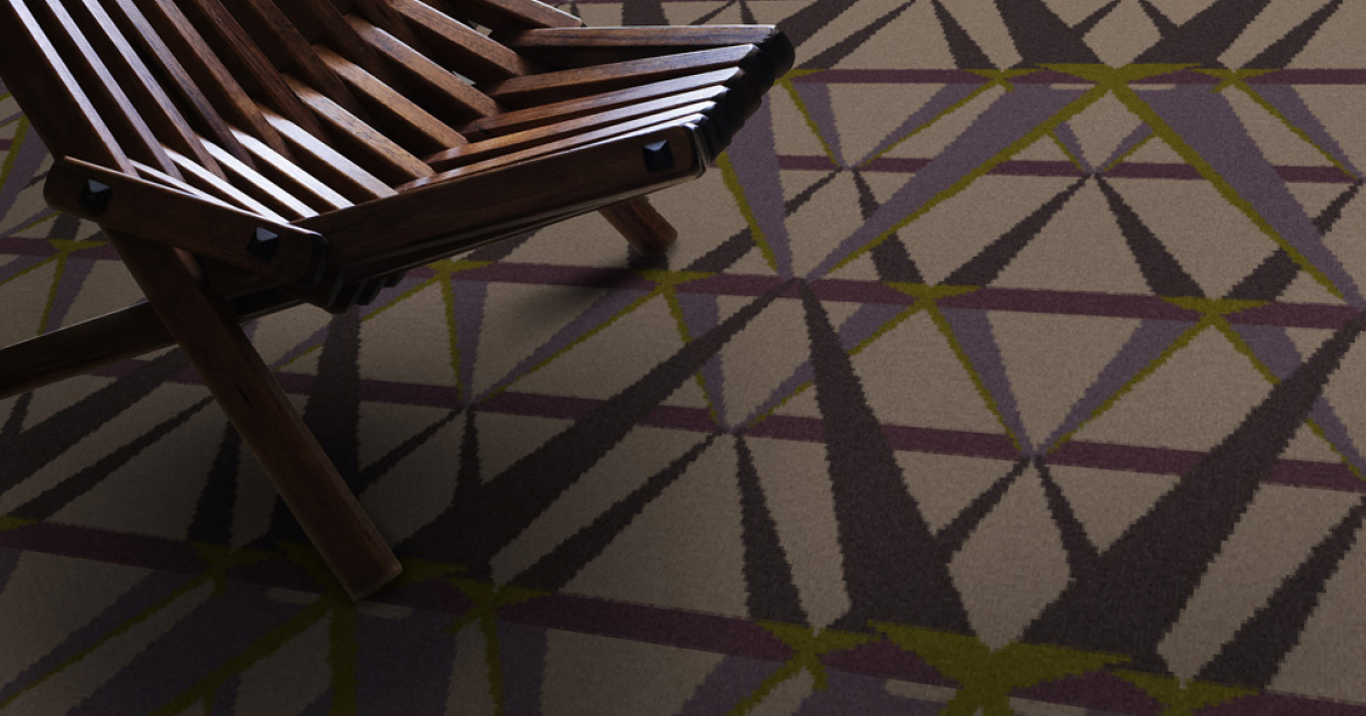 The trend for structural patterns continues to prevail in carpet design
