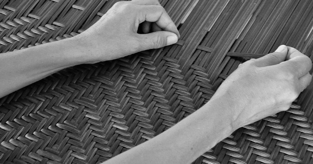 Alexander Rose's hand-woven collections are made in its factory in Cebu in the Philippines