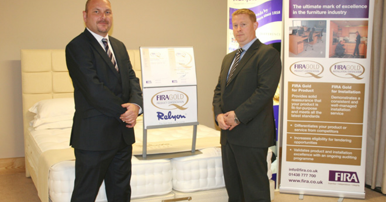 Reylon's range of contract mattresses and divan beds has received FIRA Gold Product Certification