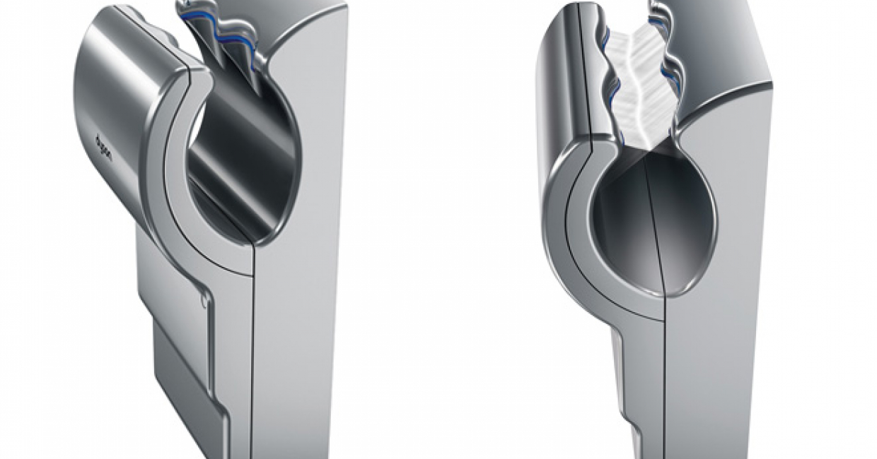 Dyson Airblade dB is 50% quieter than its predecessor and cleans hands in 10 seconds