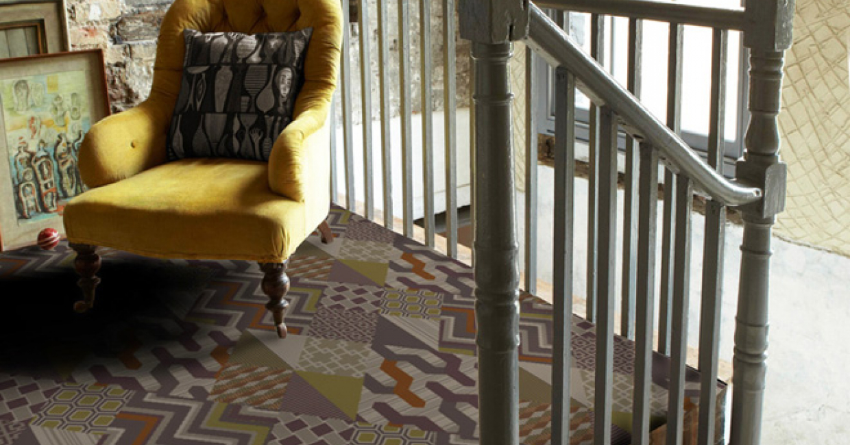 Retro styles of carpet often feature hexagons, zigzags and diamonds in the design