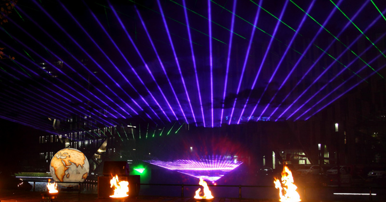 Multimedia show at the Steigenberger Parkhotel's grand opening