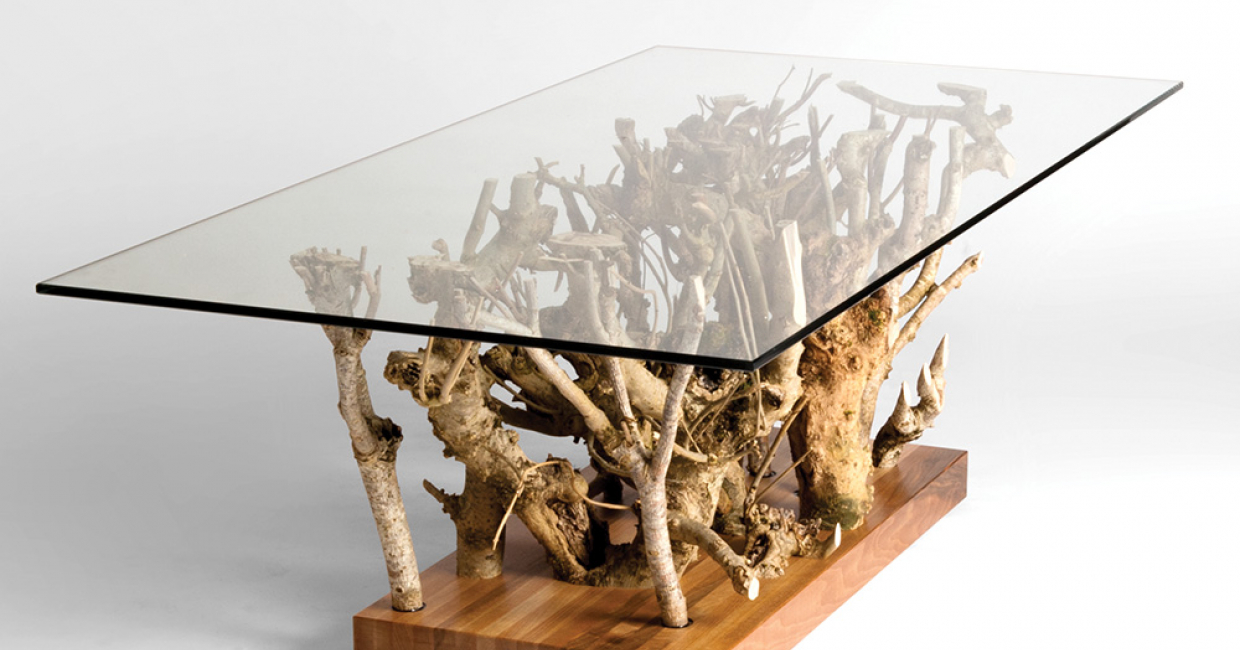 David Savage's Hedge I table is a product of skilled hands reflecting upon the English landscape that surrounds them.