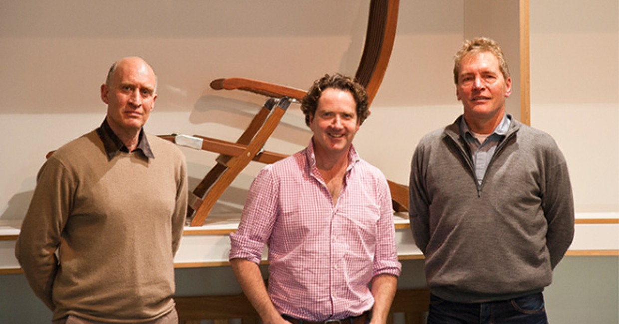 Alexander Rose student competition judges (L-R): Alan Morley, Diarmuid Gavin and Borge Leth