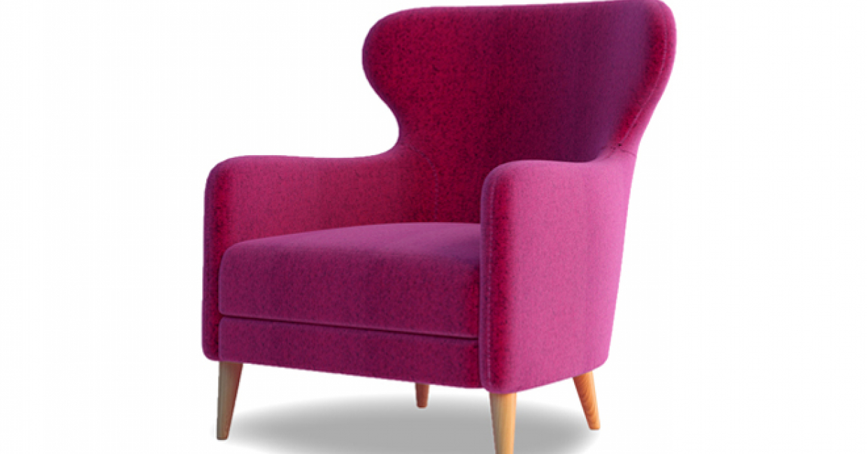 Mrs low-backed wing chair, Lyndon Design