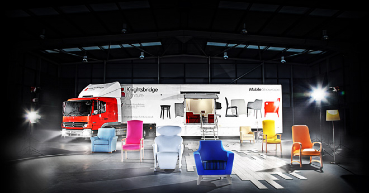 The new Design at Knightsbridge mobile showroom offers a new way in which to see the company's products first hand