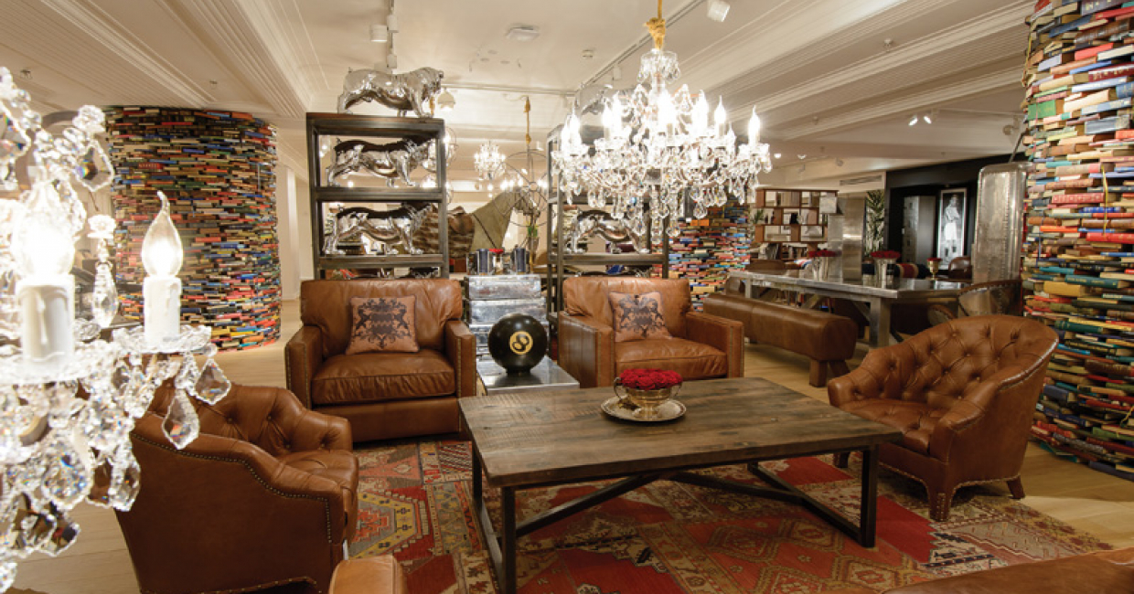 Timothy Oulton's new showroom in Harrods, Knightsbridge