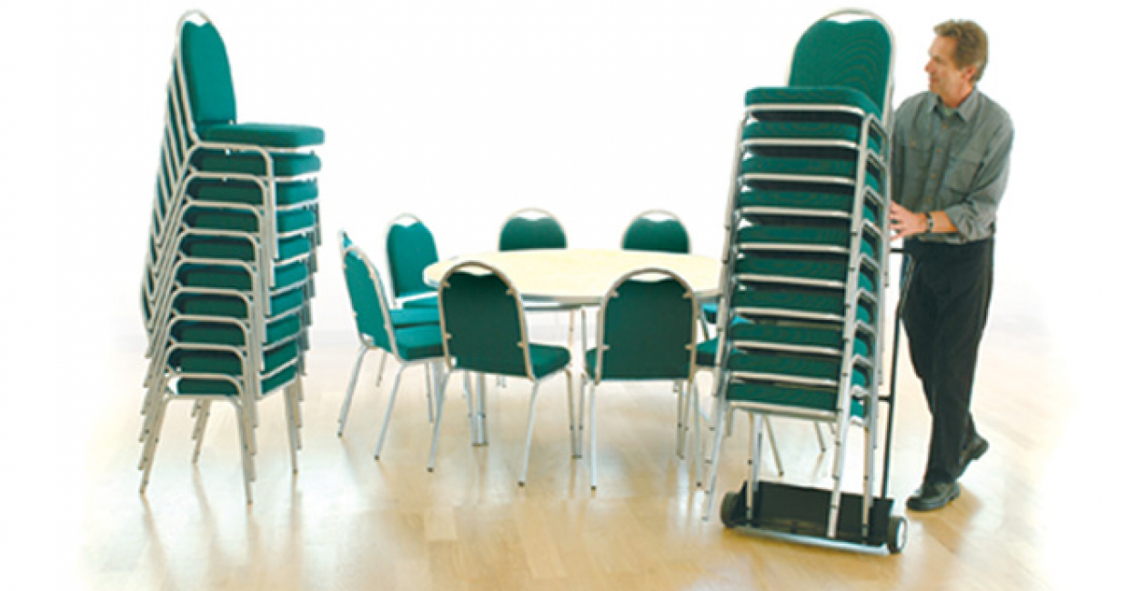 Gopak's stackable Banqueting Chairs – complete with chair trolley – provide a versatile seating option for any occasion