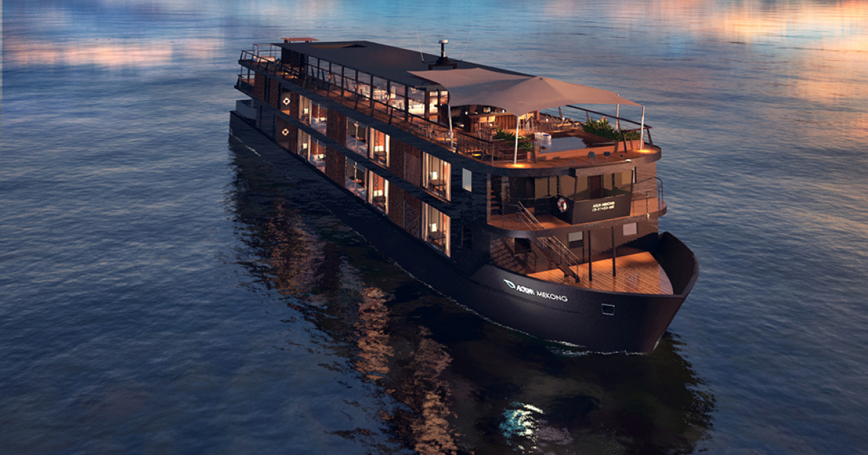 Architecture - Newbuild (resort): Aqua Mekong Luxury River Cruise Boat, Mekong River by Noor