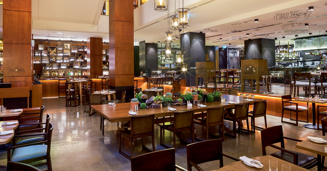 Interior Design - Cafe Bar or All Day Dining: The Woods at Four Seasons Sydney by Dreamtime Australia Design