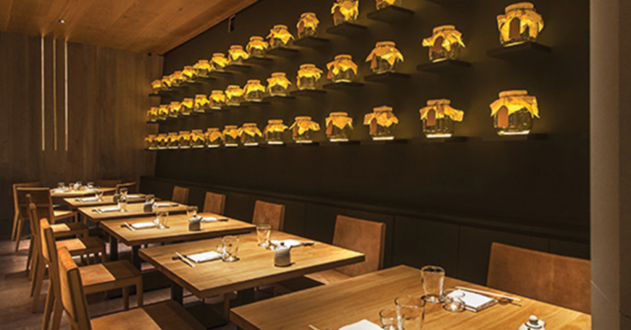 Into lighting selected for stylish japanese restaurant in