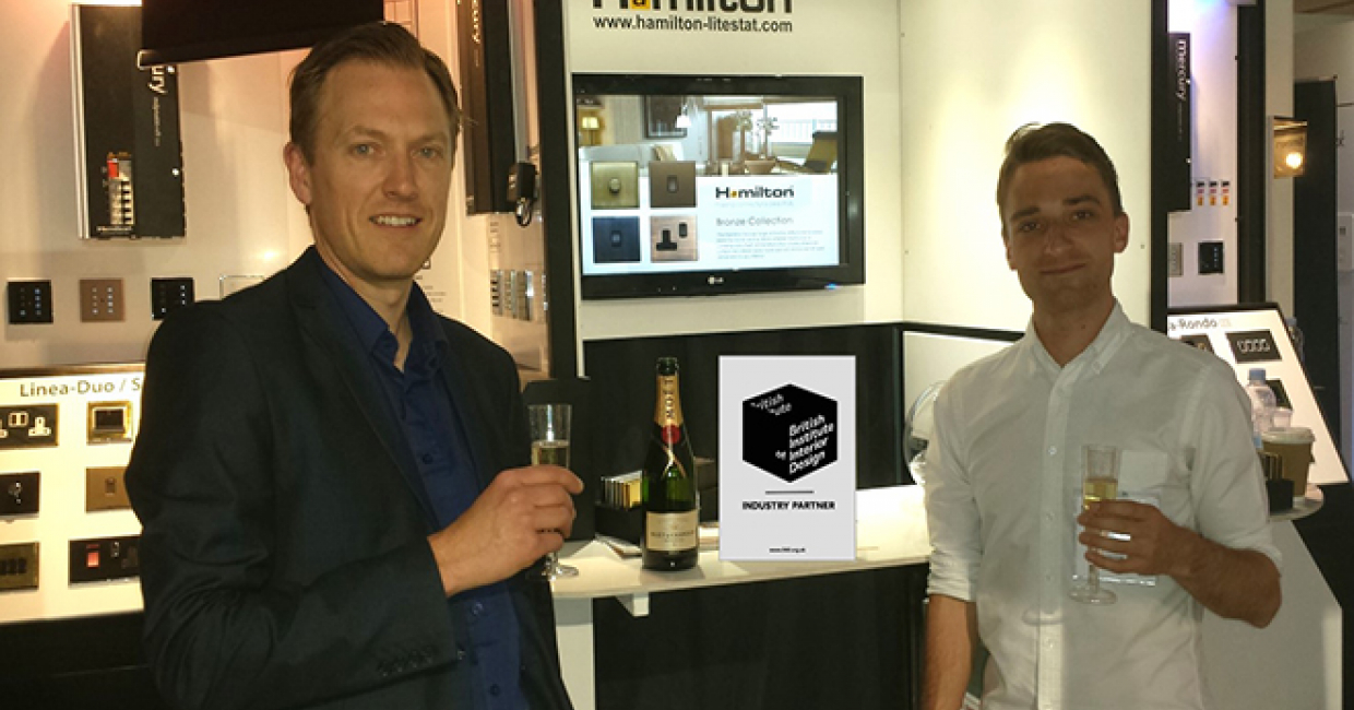 Hamilton Litestat was officially welcomed at May Design Series into the ranks of the British Institute of Interior Design (BIID) as an 'Industry Partner'