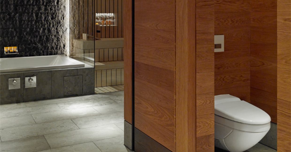 Geberit AquaClean 8000plus was the natural choice for the bathrooms in the luxurious Chedi Andermatt Hotel located in the beautiful Swiss Alps.