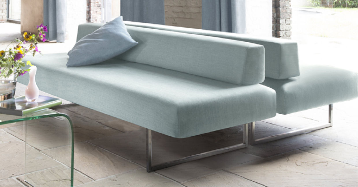 This sofa features Exeter, from Kobe's Essente upholstery and curtain fabric range