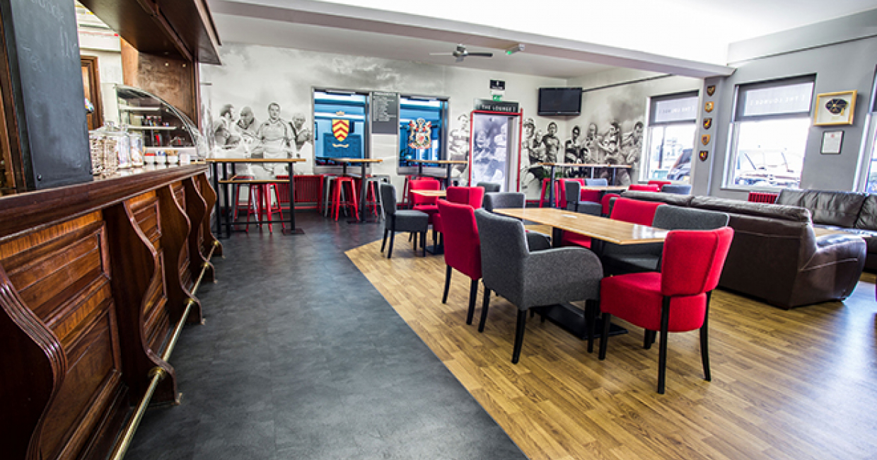 Polyflor Gives Cardiff Blues Rugby Club Bar A Winning New