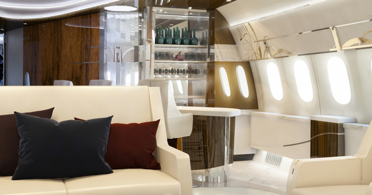 Visualisation (3D): 787-9 VIP BBJ Azure, Greenpoint Technologies