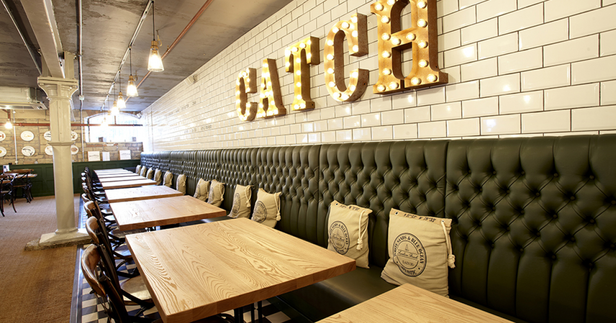 Andy Thornton at Catch Seafood Restaurant  Hospitality Interiors