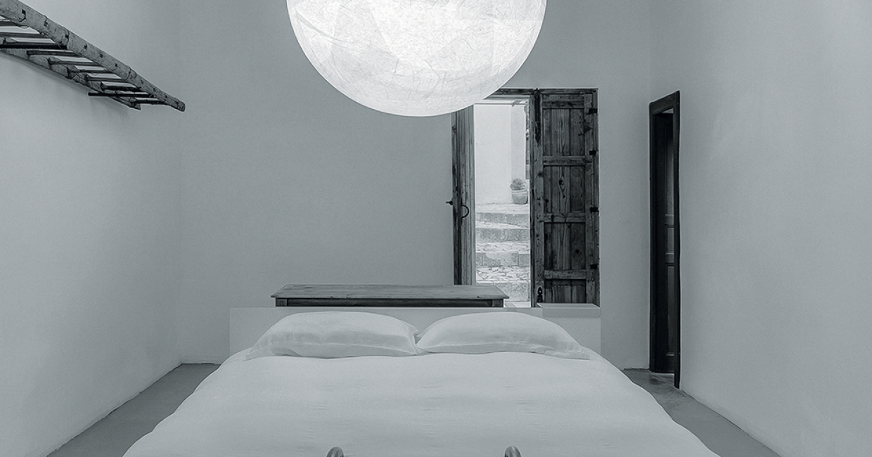 Davide Groppi's striking lighting solutions grace Hotel N'orma, an intimate country hotel in Sicily ...