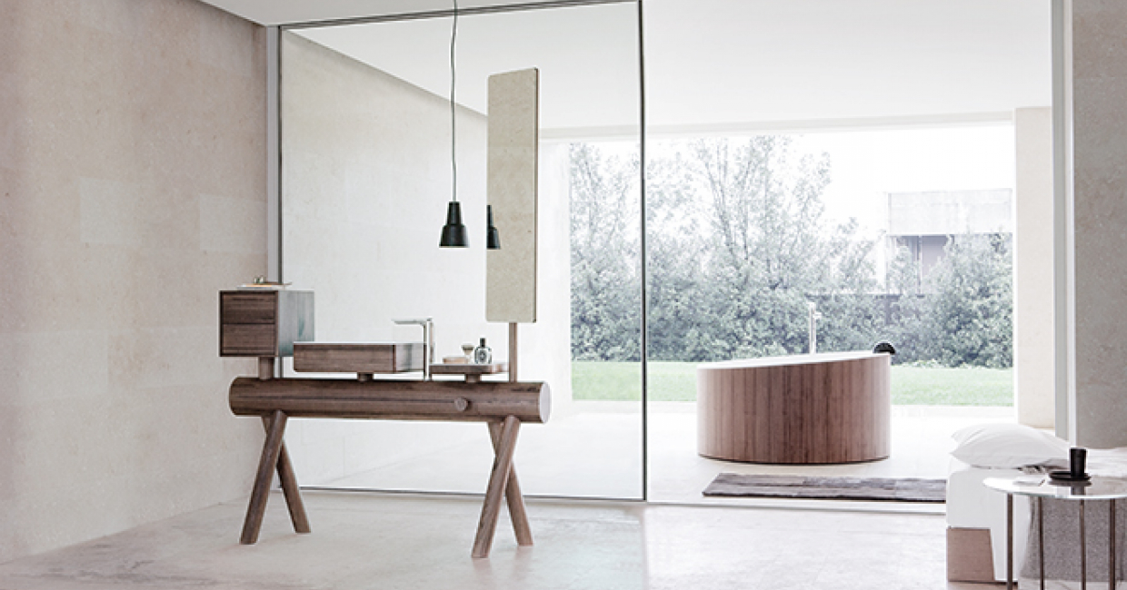 Hospitality Interiors caught up with GRAFF team to talk about this year's material trends and the surprising technological influences cropping up in bathroom spaces