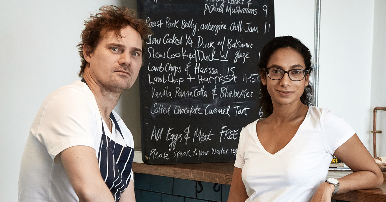 Terry Blake and Yohini Nandakumar are set to open their first restaurant, Sparrow, in Lewisham on the 28th of March