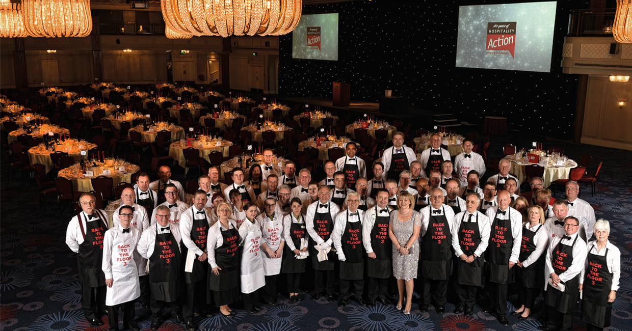 "Following the success of Back to the Floor 1 and 2, key figures from the hospitality industry went ""Back to the Floor"" for a third time on Friday 7th April at the five star Grosvenor House, A JW Marriott Hotel"