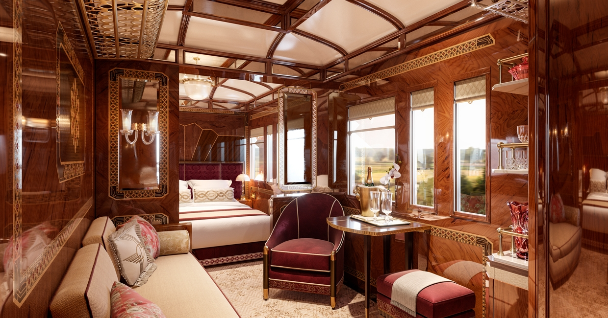 . Wimberly Interiors designs three new Grand Suites for Venice Simplon