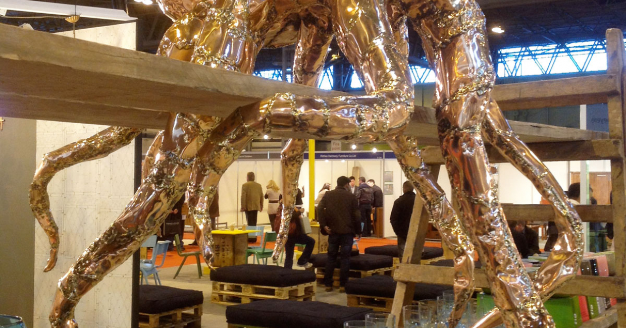 Pitfield's pop-up restaurant featured a giant copper octopus