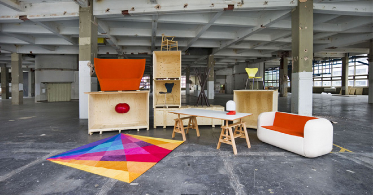 office backdrop. Designjunction Will Again Display The Latest Products Against Industrial Backdrop Of Sorting Office K
