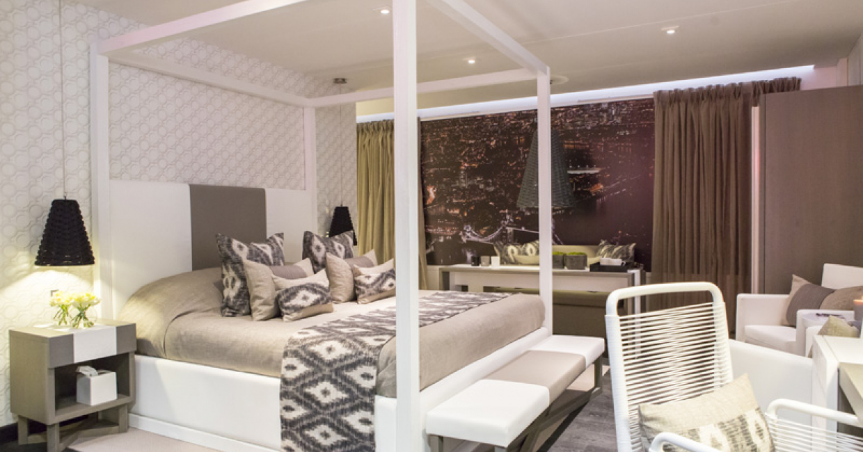 Sleep Hotel: Room 102 by Kelly Hoppen Interiors and Crosswater