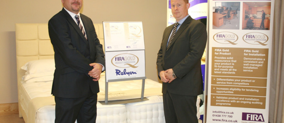 Relyon contract beds first to be awarded FIRA Gold