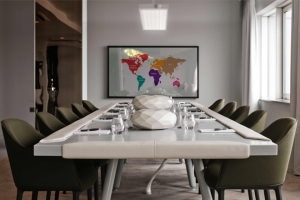 Crestron solutions used for new boardroom concept