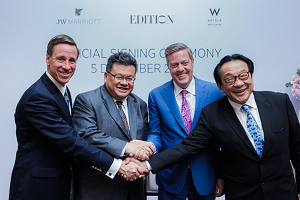 Marriott and YTL Hotels announce expansion plans for Asia