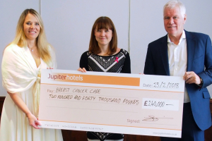 Jupiter Hotels makes £240,000 donation to Breast Cancer Care